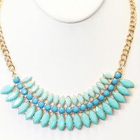 Teal Bridgette Necklace Set - Necklace Set