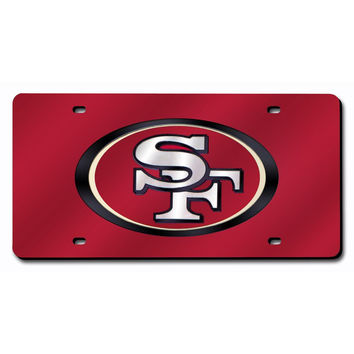 San Francisco 49ers NFL Laser Cut License Plate Cover