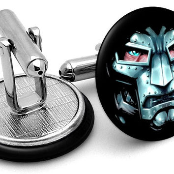 Doctor Doom Face Cufflinks