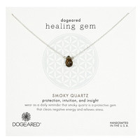 dogeared - Lasting Healing Gems Smoky Quartz Pendant Necklace