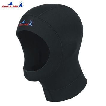 3mm neoprene diving hat professional uniex NCR fabric swimming cap winter cold-proof wetsuits head cover helmet swimwear 1pcs