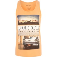 Orange Hit the Road print tank - tanks - t-shirts / tanks - men