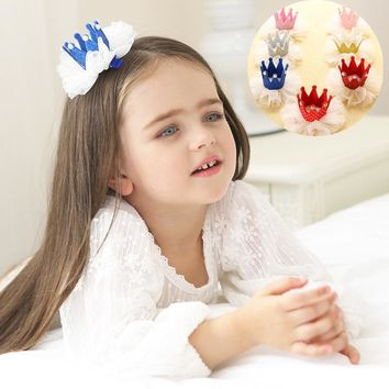 New Fashion Princess Crown Hairpins Resin Diamond Gliter Pearl Tiaras Headwear Girls Dancing Party Hair Clip Hair Accessories