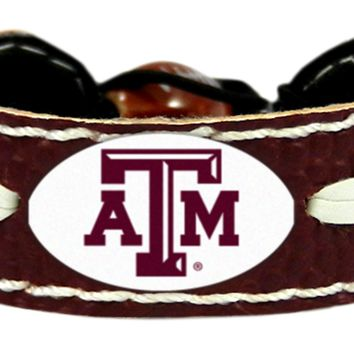Texas A&M AggiesTeam Color Football Bracelet