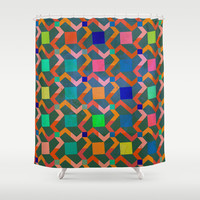 Zig zag Shower Curtain by Tony Vazquez