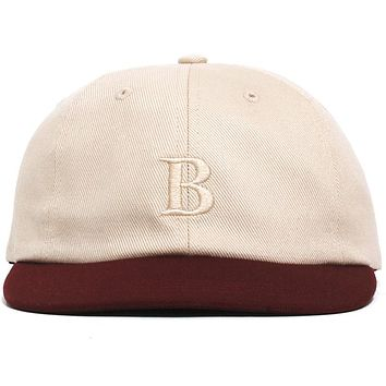 Borough 6-Panel Cap Sand / Wine