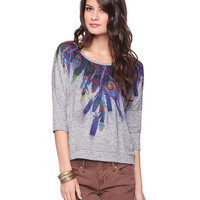 Psychedelic Feather Top | FOREVER21 - 2008585151
