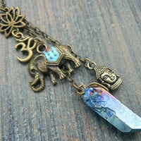 Boho necklace yoga necklace zen necklace Ganesha necklace spiritual necklace