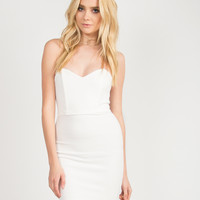 Sweetheart Wired Tube Dress - Ivory - Large