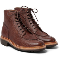Grenson - Grover Grained-Leather Boots | MR PORTER