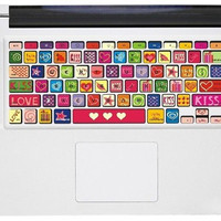 Love heart--Macbook decal Macbook sticker Mac decal Mac sticker Vinyl Mac decal Macbook pro decal Macbook air decal ipad decal iphone decal