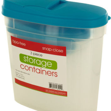 pourable food storage container set