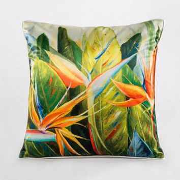 Latest Design Chinese Style Plant Flowers Printing Imitation Silk Throw Pillows Sofa Chair Backrest Cushion For Home Supplies