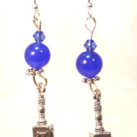 Hanukkah Dreidel Earrings - Chanukah Gifts Hanukkah jewelry Dreidel charms