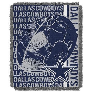Dallas Cowboys NFL Double Play Woven Jacquard Throw