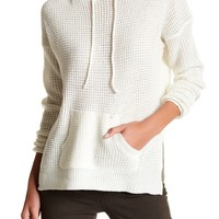 Poof | Waffle Knit Hooded Pullover | Nordstrom Rack