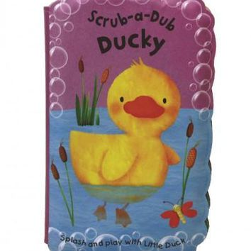Scrub-a-Dub Ducky: Bath Mitt and Bath Book Set