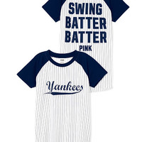 New York Yankees Short Sleeve Baseball Tee - PINK - Victoria's Secret