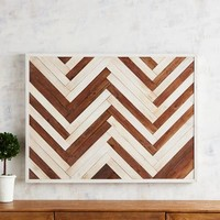 Chevron Planked Wall Decor