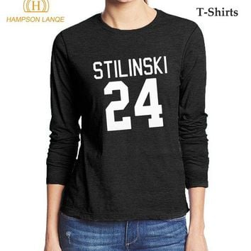 ONETOW Teen Wolf Stilinski 24 Fashion Women's T Shirt 2017 Hot Autumn 100% Cotton High Quality Long Sleeve T-Shirt Hipster Tops Tees