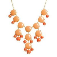Bubble Necklace, Statement Necklace, Bubble Jewelry(Fn0508-Cinnamon)