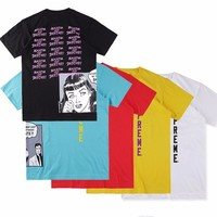 Supreme Collaboration Why cant My boyfriend Skate Comics Tee Skateboard T-shirt Men Rep