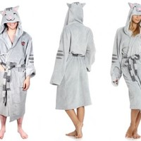The Big Bang Theory Soft Kitty Adult Gray Hooded Plush Costume Robe