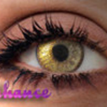 Gold Fleck Enhanced Contact Lenses