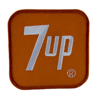 Vintage Style 7 Up Patch Iron on Applique Alternative Clothing Fresh Up Family Drink