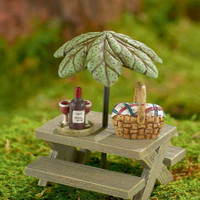 Picnic Set With Umbrella - My Fairy Gardens