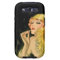 Classy Feather Dame Samsung Galaxy S3 Vibe Case