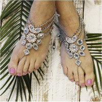 GYPSY SOLE  barefoot sandals - silver