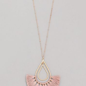 Noticed By All Necklace - Dusty Rose