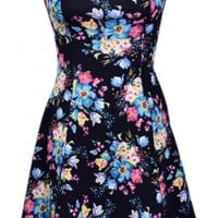 Strapless Floral Dress