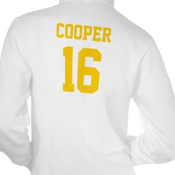 White and Gold School Spirit Personalized Team Tee Shirts