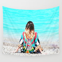 Boho Sea Sick Style Wall Tapestry by Azima