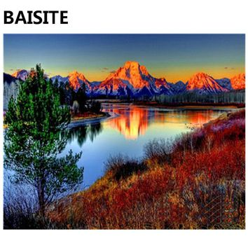 BAISITE DIY Acrylic Painting By Numbers Hand Painted Canvas Modern Wall Picture For Living Room Home Decor Wall Art