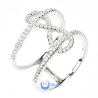 """Infinity """"8"""" Ring Double Fashion Ring Pave Signity CZ Rhodium over Sterling Silver"""