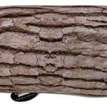 Tache Brown Log Cylinder Micro Bead Pillow Cushion Throw, 15x7 (TTS8915B)