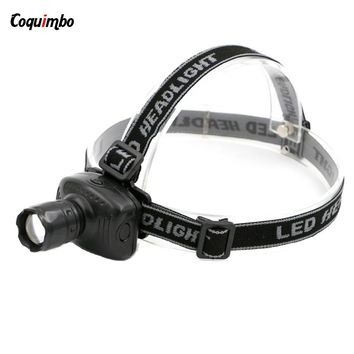 Super Bright Mini 3 Mode LED Headlamp Zoomable Lamp Outdoor light Sports Camping Fishing Head Lamp  FREE SHIPPING