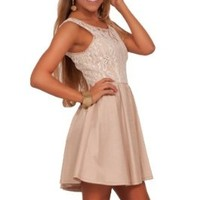 Junior Teenage Mini Fit Flare A-Line Lace Embroidered Homecoming Party Dress