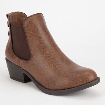Soda Chelsea Womens Booties Camel  In Sizes