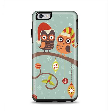 The Retro Christmas Owls with Ornaments Apple iPhone 6 Plus Otterbox Symmetry Case Skin Set