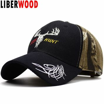 LIBERWOOD Hunting Style Woodland Army Green Camouflage Baseball Hat Cap Deer Hunt Cap Realtree Xtra Camo Hat Father's Gift
