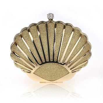 Sea Shell Shaped Fancy Clutch