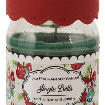 Jingle Bells Soy Jar Candle Iced Juniper & Jasmine Scent
