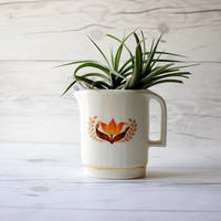 Vintage Bakerite Modern Tulip Syrup Pitcher | Air Plant Planter | Succulent Planter | 22k. Gold | Made in USA