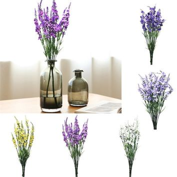 38cm Plastic Silk Flower Romantic Provence Artificial Flowers Lavender Decoration Flower Wedding Flowers Fake Flores Bouquet