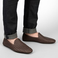 Edoardo Intrecciato Foulard Calf Slippers - Men's Bottega Veneta® Mocassin Or Slipper - Shop at the Official Online Store