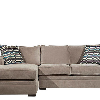 Artemis II 2-pc. Microfiber Sectional Sofa | Sectional Sofas | Raymour and Flanigan Furniture